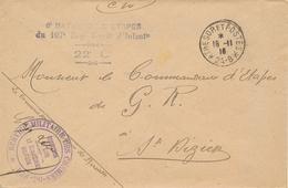 """TRESOR ET POSTES 24.B + Franchise """" SERVICE MILITAIRE DES CHEMINS DE FER """" Sur Lettre > St Dizier - Marcophilie (Lettres)"""