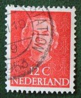 12 Ct Koningin Juliana EN FACE NVPH 522 (Mi 529) 1949-1951 1950 Gestempelt / Used NEDERLAND / NIEDERLANDE15 - 1949-1980 (Juliana)