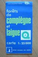 Carte Topographique IGN / ONF - Forêts De Compiègne Et Laigue - 1:25 000 - Cartes Topographiques