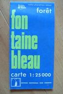Carte Topographique IGN / ONF - Forêt De Fontainebleau - 1:25 000 - Cartes Topographiques