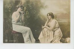 FEMMES - FRAU - LADY - Jolie Carte Fantaisie Portrait Jeunes Femmes Musiciennes - Donne