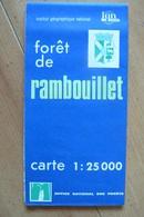 Carte Topographique IGN / ONF - Forêt De Rambouillet - 1:25 000 - Cartes Topographiques