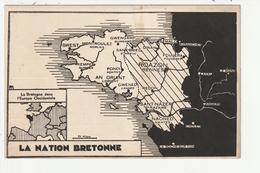 LA NATION BRETONNE - DESSIN GEOGRAPHIQUE DE LA CARTE DE BRETAGNE - Bretagne