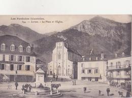 CPA - 394. LARUNS La Place Et L'église - Laruns
