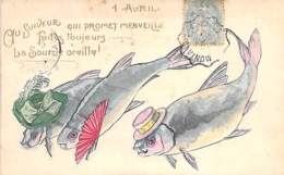 FETES : 1 AVRIL ( Humoristique ) Au Suiveur Qui Promet Merveille ... Jolie CPA Gaufrée Colorisée 1907 (?) - April Fool's Day