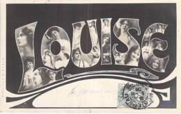 FANTAISIE - Prénoms : LOUISE ( Syle Art Déco )  CPA Multivues 1906 - - Voornamen