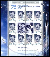 Russia. 2016.  55 Years Of Gagarin's Flight. Imprinter - Space