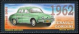 BRAZIL #2802c -  AUTOMOBILES - OLD MODELS  -  RENAULT GORDINI  - CLASSIC CARS - 2001  MNH - Brazil