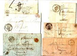 59 RF 6 Marques Postales France 19 Eme - Poststempel (Briefe)