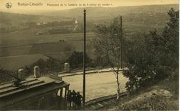 NAMUR Citadelle Panorama De La Sambre, Vu Du Milieu Du Monde Tram Animée - Namur