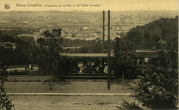 NAMUR Citadelle Panorama De La Ville Et Chalet Forestier Tram - Namur