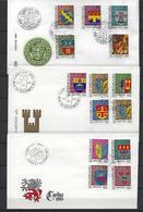 Luxembourg:991/995 + 1013/1017 + 1036/1040 Sans Le 1038 Thème Noël - Enveloppes