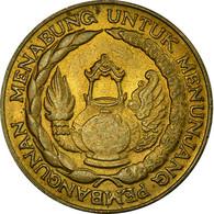 Monnaie, Indonésie, 10 Rupiah, 1974, TB+, Brass Clad Steel, KM:38 - Indonesia