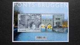 Belgien 4823/4 Block 224 **/mnh, EUROPA/CEPT 2018, Brücken - Blocks & Sheetlets 1962-....