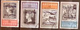 "Barbuda 1980: Michel-No. 479-482 ""overprint LONDON 1980"" Used (c.t.o)  ""Antigua 1862, Black Penny 1840, Coach, Concorde"" - Antigua Und Barbuda (1981-...)"