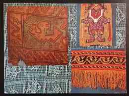 TELA PINTADA - TAPIZ - Figuras Geometricas - Cultura Nasca - Cultura Chancay - PERU - Perù