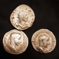 Antoninien Gordien III Et Gallien - 5. The Military Crisis (235 AD Tot 284 AD)