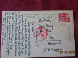 Carte De 1941 à Destination De L'Allemagne Avec Cachet Militaire Allemand - Storia Postale