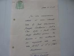 Lettera Manoscritta Vescovo Di Siena 1948 - Historical Documents