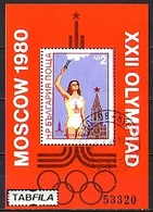 BULGARIA / BULGARIE / BULGARIEN - 1980 - Jeux Olimpiques Moscuo'1980 VI - Bl (O) - Blokken & Velletjes