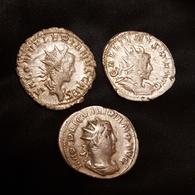 Lot Antoniniens Volusien, Trajan, Philippe - 5. The Military Crisis (235 AD Tot 284 AD)