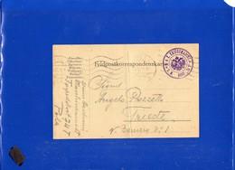 ##(DAN198)-Austria 1914-  Army Postcard (Italian Written) From Torpedo Boat 74T In Pola Harbour To Trieste - Storia Postale