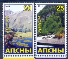 ABH 2011- EUROPA CEPT,GEORGIA ABHASIA, 2v, MNH - 2011