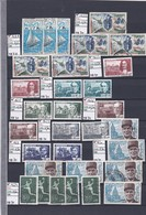 STOCK / COLLECTION TIMBRES FRANCE Oblitérés - 1970 à 1975 - REF MS  - SUR 21 PAGES Détachées - Mezclas (max 999 Sellos)