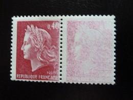 N° 1536B - 40c Rouge Carminé Neuf - Mauvais Encrage - 1967-70 Marianne (Cheffer)