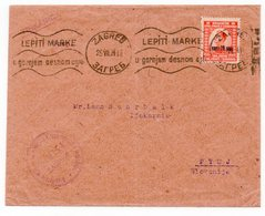 1924 YUGOSLAVIA, CROATIA, ZAGREB TO PTUJ, DIONICKO DRUSTVO ZA FARMACIJU I INDUSTRIJU, FLAM - 1919-1929 Königreich Der Serben, Kroaten & Slowenen