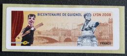 FRANCE - VIGNETTES ILLUSTREES - 2008 - VIG 42 - BICENTENAIRE DE GUIGNOL - LYON - 1999-2009 Geïllustreerde Frankeervignetten