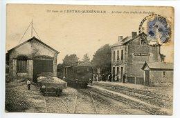 Gare De Lestre Quinéville Arrivée D'un Train De Barfleur - Other Municipalities
