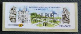 FRANCE - VIGNETTES ILLUSTREES -  2011 - VIG 71 - SALON PHILATELIQUE DE PRINTEMPS - ANGERS - 2010-... Abgebildete Automatenmarke
