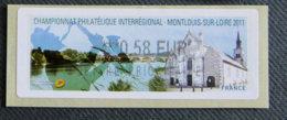 FRANCE - VIGNETTES ILLUSTREES -  2011 - VIG 73 - CHAMPIONNAT PHILATELIQUE NTERREGIONAL MONTLOUIS - 2010-... Illustrated Franking Labels