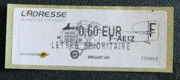FRANCE - VIGNETTES ILLUSTREES -  2011 - VIG 79 - L ADRESSE - BREGUET XIV - 2010-... Illustrated Franking Labels