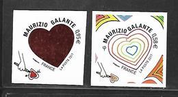 A286  Adhésifs Paire Coeur De Maurizio Galante N°510 Et 511 N++ - Adhésifs (autocollants)