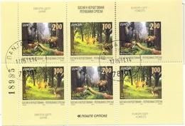 BHRS 2011-525-6 EUROPA CEPT, BOSNA AND HERZEGOVINA-R.SRBSKA, BLATT, Used - 2011