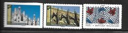 A294  Adhésifs Cathédrale De Strasbourg, Château De Chambord, Tissus, Issus De Feuilles N°1660a/1674a/1675a Nxx - Luchtpost