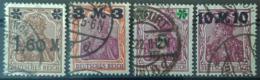 DEUTSCHES REICH - Canceled - Mi 154, 155, 156, 157 - Germania - Used Stamps
