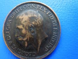 1917 GEORGIOUS VDLI-GRAN-BRITT-REX-FID.DEF.IND.IMP..Money Great Britain 1903: Post-Victorian Book Coins Pound D.1/2Penny - 1902-1971 : Post-Victorian Coins