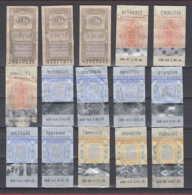 247819 / Lot Of 15 Pieces Tobacco Cigarette Tax , Revenue Fiscaux Steuermarken Fiscal , Bulgaria Bulgarie Bulgarien - Andere