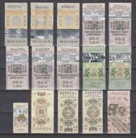 247820 / Lot Of 15 Pieces Tobacco Cigarette Tax , Revenue Fiscaux Steuermarken Fiscal , Bulgaria Bulgarie Bulgarien - Andere