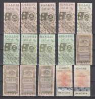 247821 / Lot Of 15 Pieces Tobacco Cigarette Tax , Revenue Fiscaux Steuermarken Fiscal , Bulgaria Bulgarie Bulgarien - Andere