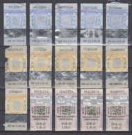 247822 / Lot Of 15 Pieces Tobacco Cigarette Tax , Revenue Fiscaux Steuermarken Fiscal , Bulgaria Bulgarie Bulgarien - Andere