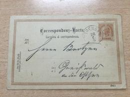K8 Österreich Ganzsache Stationery Entier Postal P 76 Von Strengen Nach Greifswald - Ganzsachen