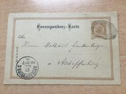 K8 Österreich Ganzsache Stationery Entier Postal P 74 Von Franzensfeste Nach Aschaffenburg - Ganzsachen