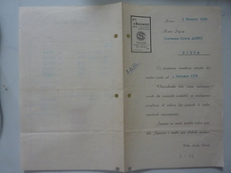 """Documento """"ESTRATTO CONTO - CHIOSTRI SIENA Contessa Aluffi"""" 1950 - Italia"""