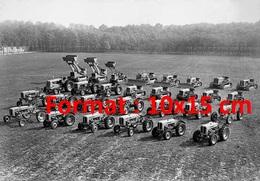 Reproduction D'une Photographie Ancienne Des Tracteurs Et Engins Du Constructeur Fiat En 1962 - Reproductions