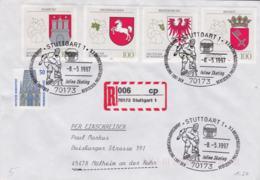 Germany Registered Cover 70173 Stuttgart 1 1997 Inline Skating (G96-27) - Sonstige