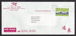 Hong Kong: Airmail Cover To Germany, 1997, 2 Stamps, City Skyline (traces Of Use) - 1997-... Speciale Bestuurlijke Regio Van China
